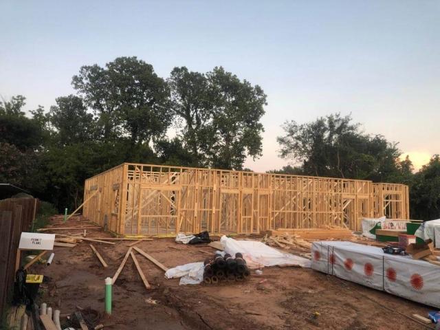 Frame of house built