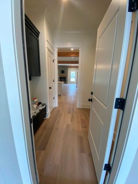 Looking at living area through doorway