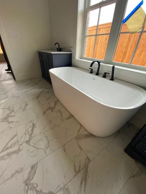 Bathtub in bathroom renovation