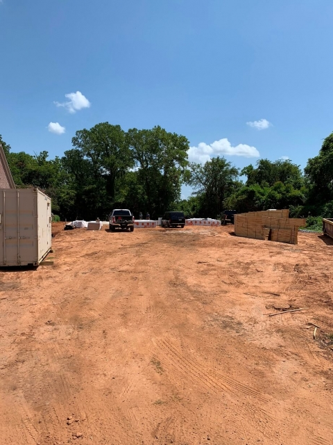 Job site being prepped