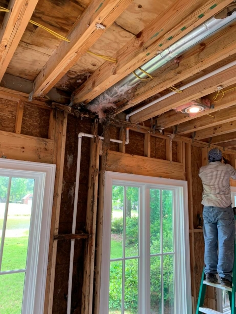 Ceiling and drywall installation