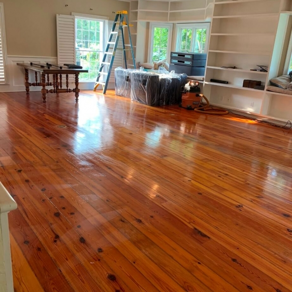 Finished hardwood floors