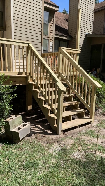 Steps outside a residence