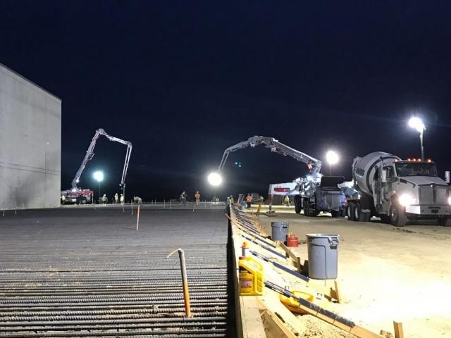 Heavy machinery working