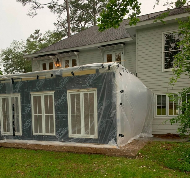 Weather proofing construction project