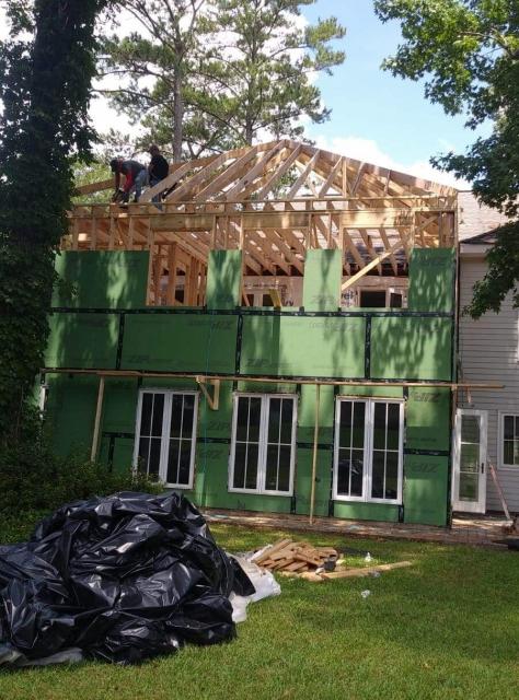 Adding siding to home addition