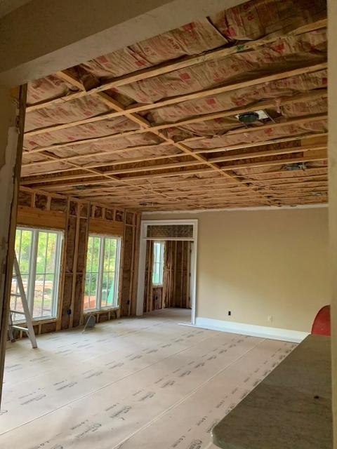Adding insulation to home addition