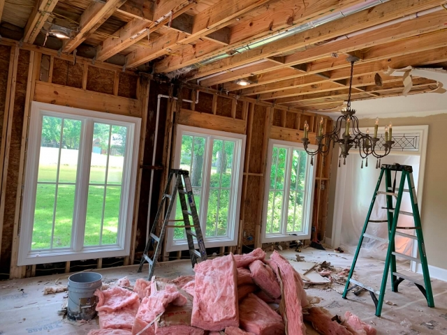 Framing and insulation during renovation