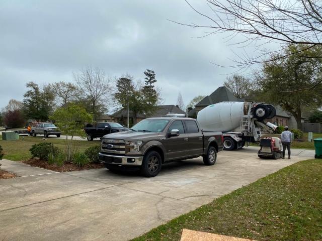 Construction truck at jobsite