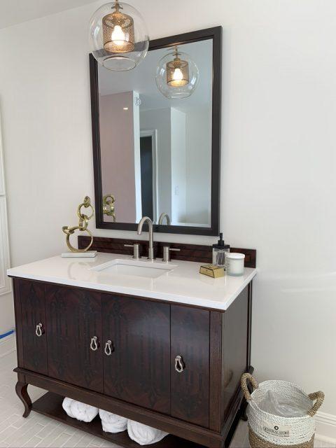 Bathroom vanity renovated