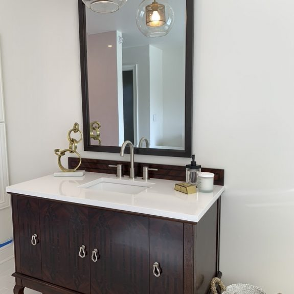 Bathroom vanity renovated