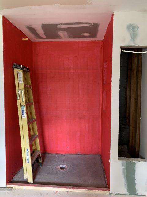 Shower before installation